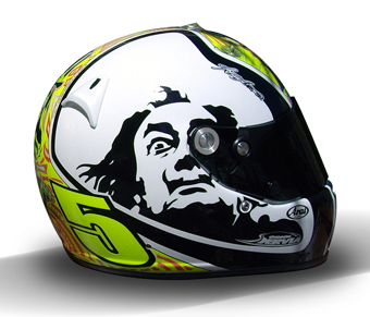 lid 1 IndyCar driver Servia wears his passion for Dali